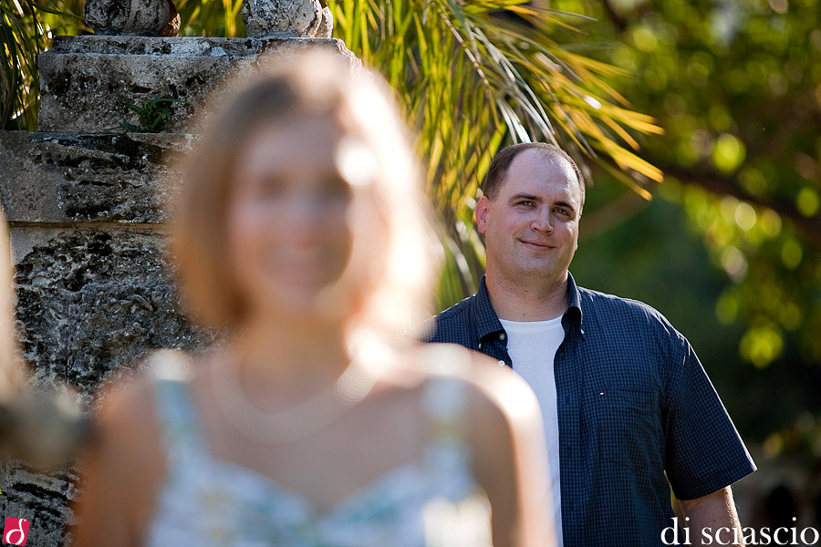 engagement photography of Krystin Gokey and Jim Ryan at Vizcaya and South Beach in Miami, FL from Alessandro Di Sciascio of Di Sciascio Photography, South Florida wedding photography from Fort Lauderdale wedding photographers.