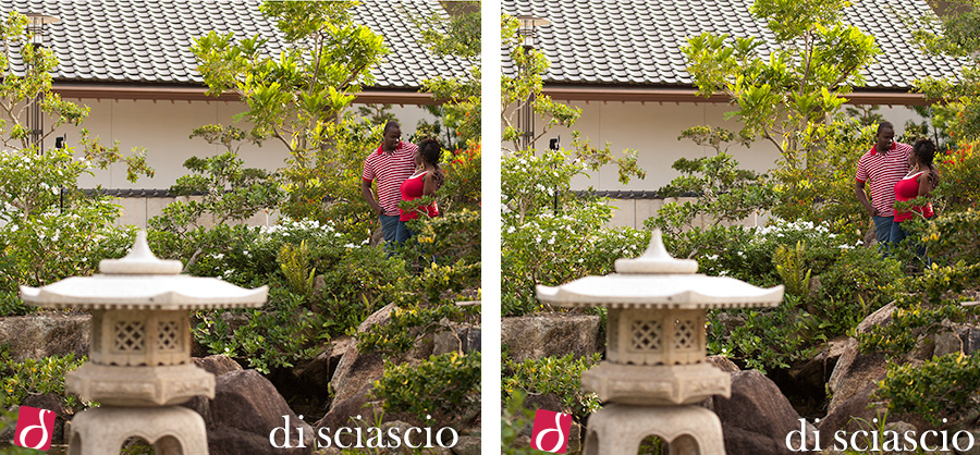 Engagement photography of Villardia Telusnord and Jermaine Shepherd in Deerfield Beach, FL, from Lisette and Alessandro Di Sciascio of Di Sciascio Photography, South Florida wedding photography from Fort Lauderdale wedding photographers.