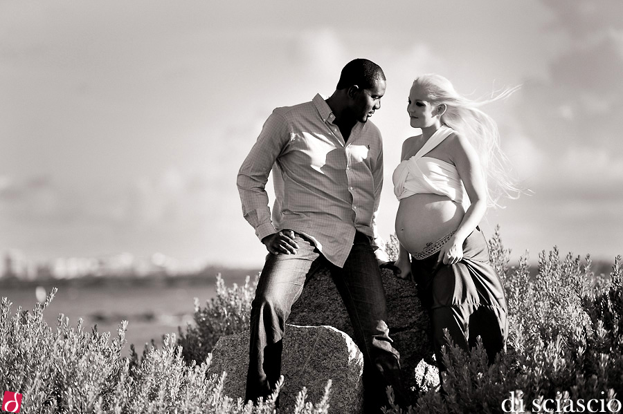 Pregnancy Photography of Deanna Kralick and Yomi Oyelola in Miami Beach, FL, from Lisette and Alessandro Di Sciascio of Di Sciascio Photography, South Florida wedding photography from Fort Lauderdale wedding photographers.