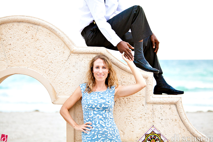 Engagement photography of Stephanie and Drack in Hollywood, FL from Lisette and Alessandro Di Sciascio of Di Sciascio Photography, South Florida wedding photography from Fort Lauderdale wedding photographers.